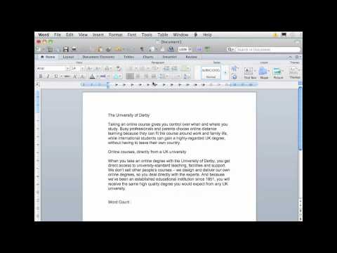 Word Processing Adding A Word Count Youtube