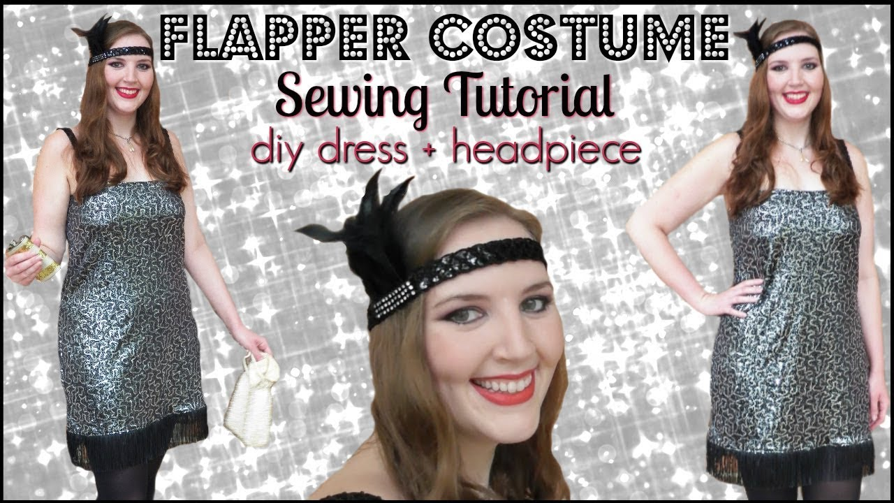 DIY 1920s Flapper Girl Halloween Costume | How to Make a Sequin ...