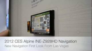 2012 CES Innovation Award Winner Alpine INE-Z928HD Navigation Bluetooth HD Radio