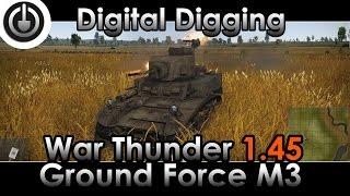 War Thunder 1.45 M3 American Ground Forces - machine gun.