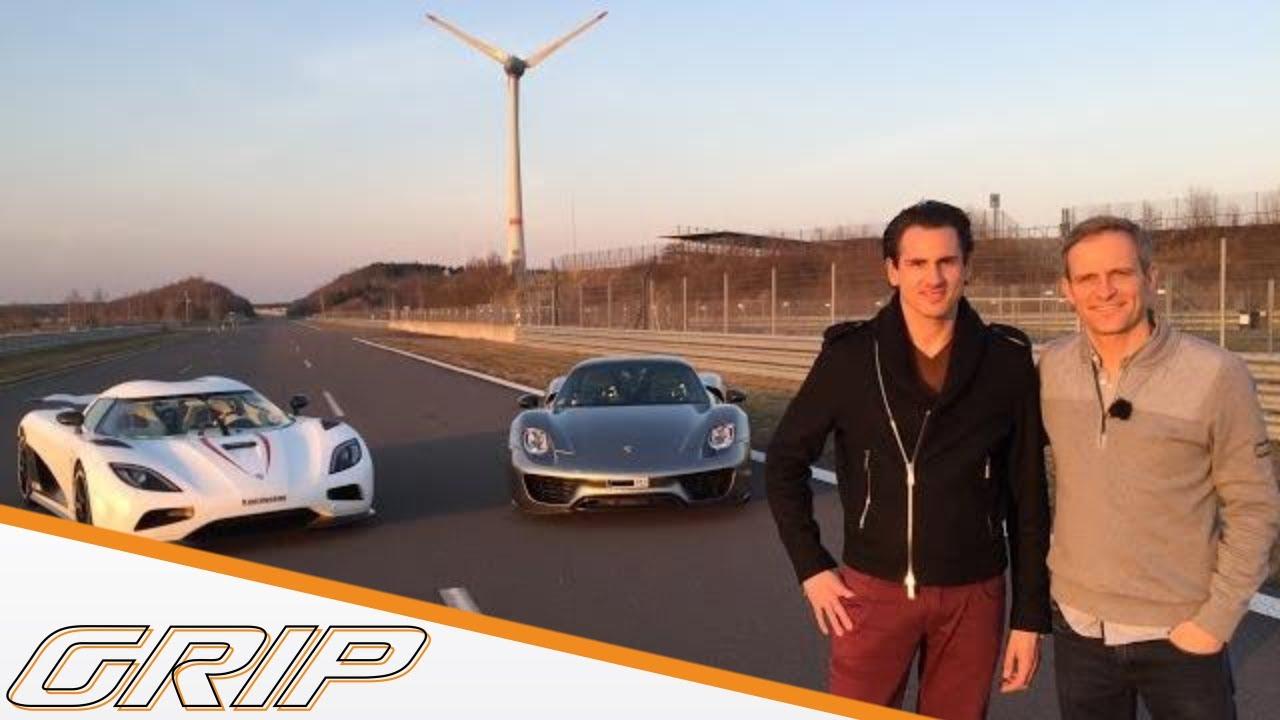 Koenigsegg Agera R and Porsche 918 Spyder - Adrian Sutil and Matthias Malmedie - Das Asphaltduell: Deutschland vs. Schweden - GRIP - Folge 316 - RTL2 Video Thumbnail