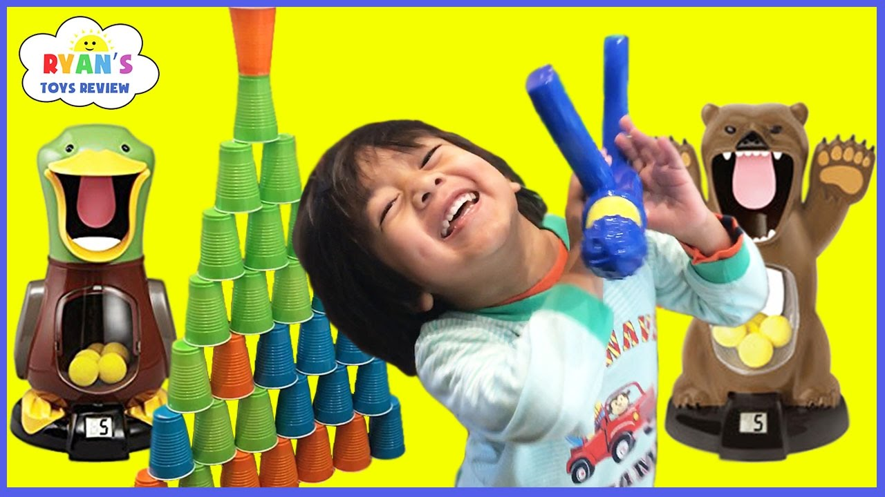 Hungry Bear Target Shooting Game For Kids Toys Unboxing