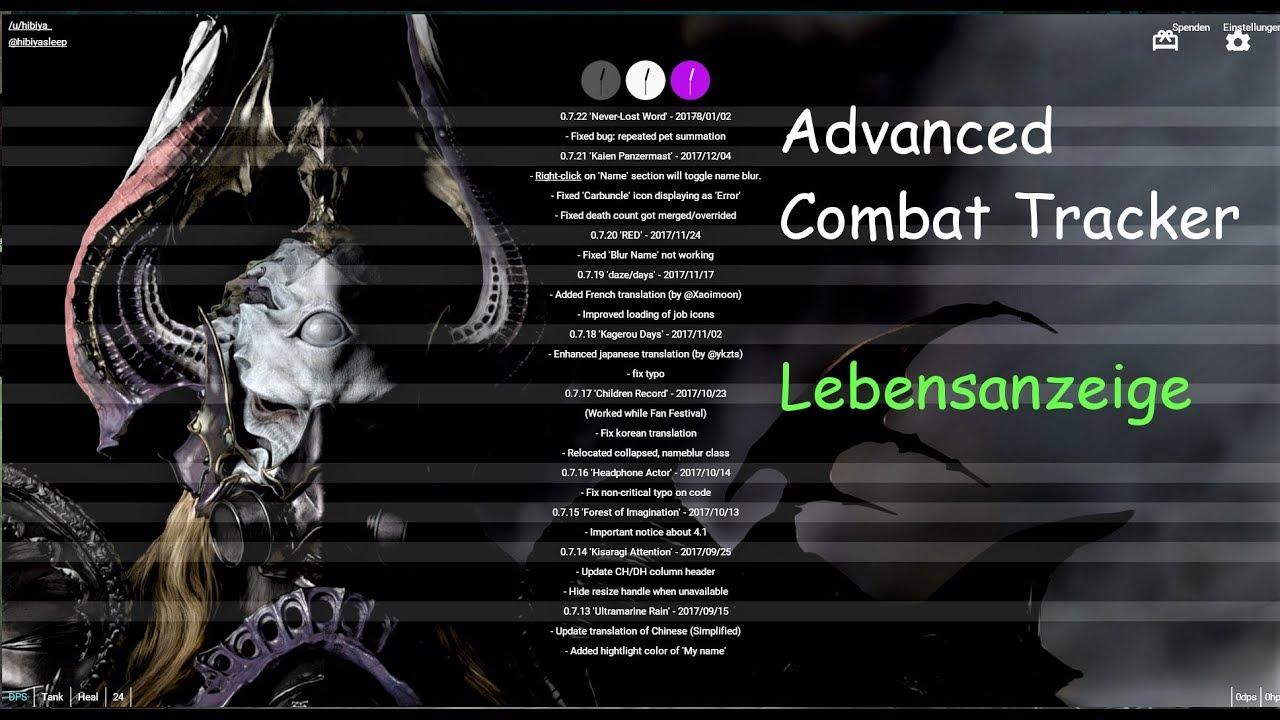 FFXIV - Advanced Combat Tracker - HP-bar setup
