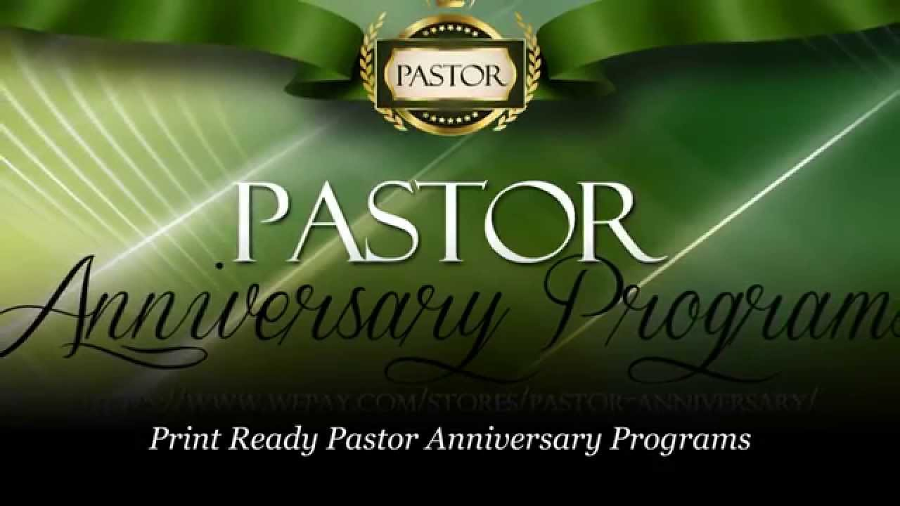 Pastor Anniversary Pastor Appreciation Programs