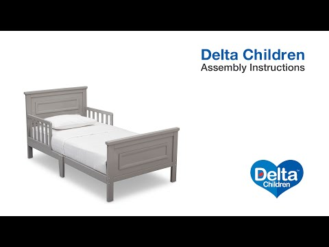Delta Children Classic Toddler Bed Assembly Video Youtube