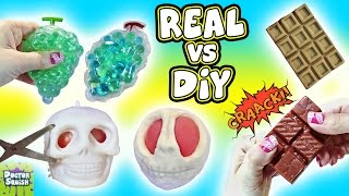 Real VS DIY Squishy Toys! Cutting Open Squishy! Homemade Squishy Toys Doctor Squish