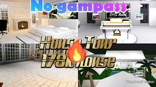 Roblox BloxBurg House Tour! No Gampass 178k!!!