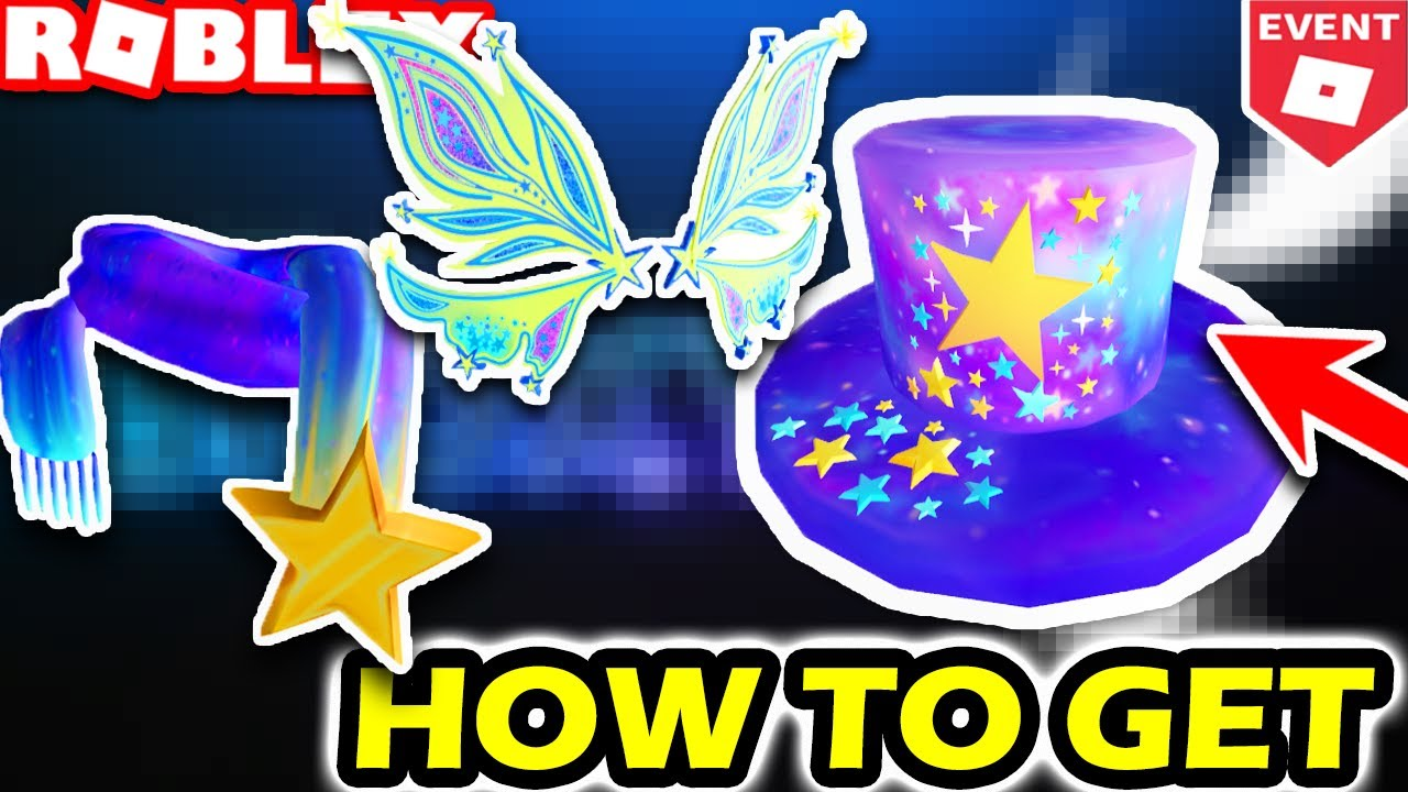 Lanas Make A Wish Foundation Roblox Leaks Make A Wish Items In Roblox Make A Wish Code Event Star Top Hat Lizzy Wings Star Scarf Youtube