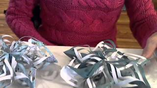 Origami Snow Flake Star Ornament For Christmas Decor By (s. Ma)