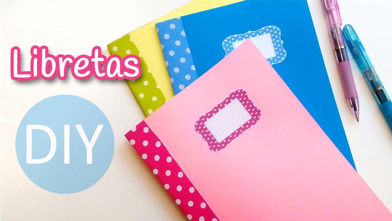 Manualidades: LIBRETAS (Cuadernillos de notas) muy fácil