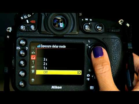 Nikon D800 Custom Settings Menu