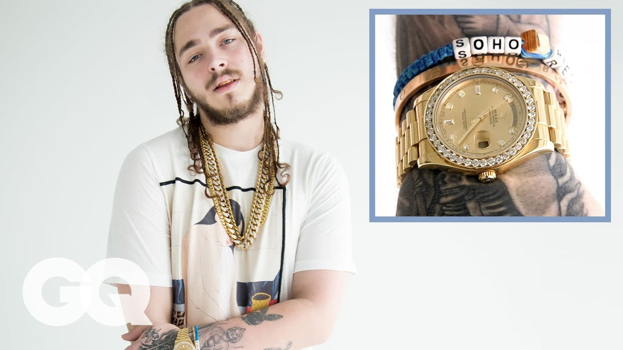 post malone on his insane jewelry collection gq youtube