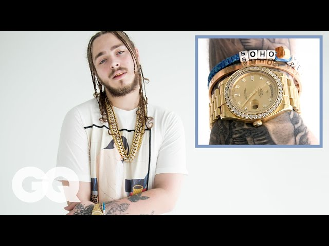 Post Malone Shows Off His Insane Jewelry Collection | GQ