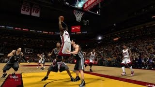NBA 2K14 XBOX360 San Antonio Spurs VS Miami Heat Gameplay