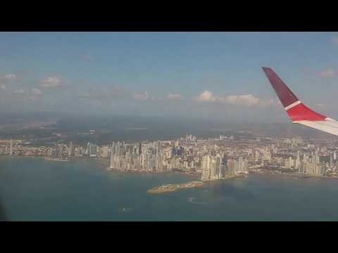 Aterrizaje en ciudad de Panamá - Aeropuerto internacional de Tocumen