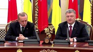 Эрдоган уснул на пресс-конференции Порошенко
