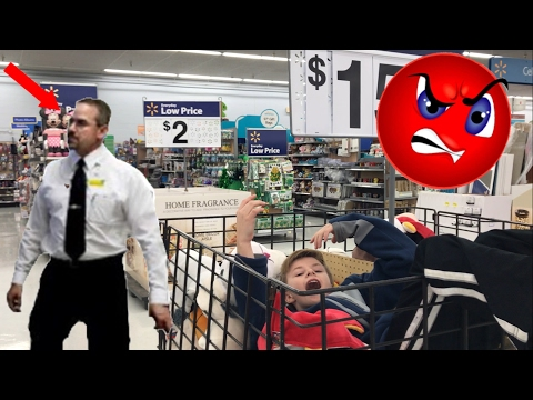 TRYING TO GET KICKED OUT OF WALMART! *SO FUNNY*