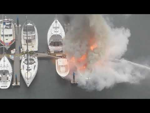 Fire at Quayside Marina Oct 12 2017
