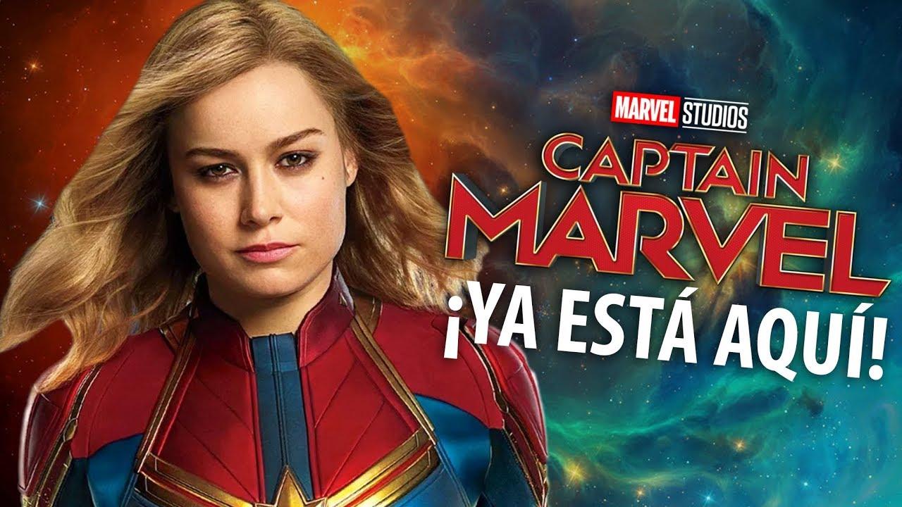INCREÍBLE: ¡Primer vistazo oficial de CAPITANA MARVEL! - YouTube