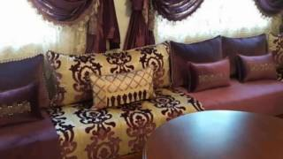 شقة نموذجية مفرشة بذوق راائع و ألوان متناسقة decoration maison marocaine