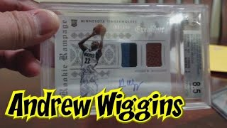 Andrew Wiggins Rookie Cards RPA BGS Silver Prizm from COMC
