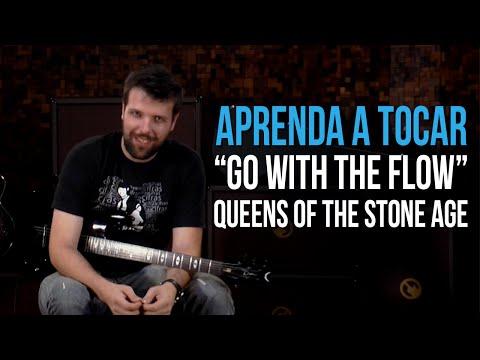 Queens Of The Stone Age - Go With The Flow (como tocar - aula de guitarra)