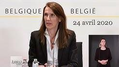 Coronavirus Belgique : 24/04/2020 : Conseil national de sécurité : Sophie Wilmes : 24 avril 2020
