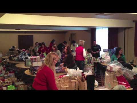 Be a Santa to a Senior - Fresno Wrapping Party 2012