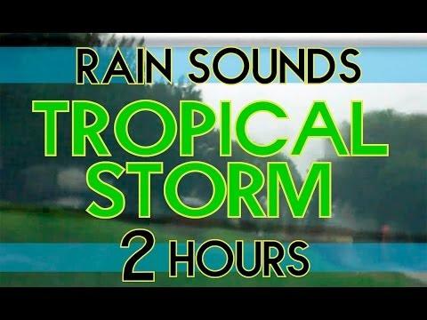 """""""Rain"""" 2 Hrs """"Rain Sounds"""" Heavy Rain from inside a Car """"Tropical Storm Debby"""" """"Sleep Sounds"""""""