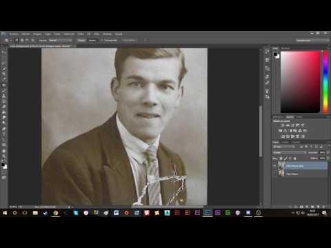 Tutorial Adobe Photoshop - Restaurar una foto antigua dañada