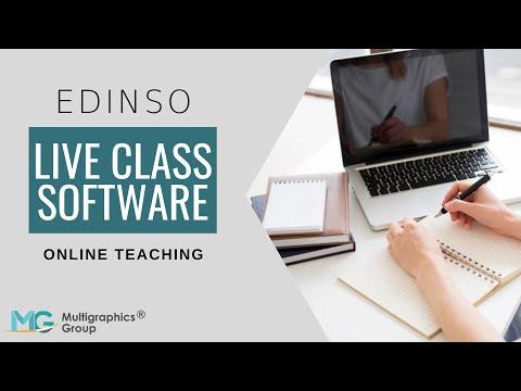 EDINSO Live Class Software | Top Virtual Classroom Software | Online Teaching