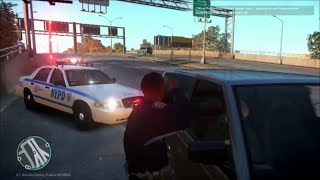 GTA IV LCPDFR 1.0C | Ep 14 |  NYPD Highway Patrol Ford Crown Victoria With Working Highrisers