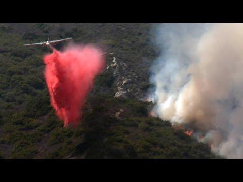 Aliso Fire 2018 Soka University Aliso Wood Canyon Top of the World Laguna Beach CA