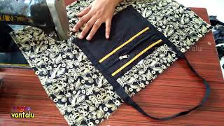 Travel Bag New Design Make at home/Cutting and Sewing/ Mana Vantalu