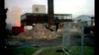 Fires Used In Asbestos Removal Demolition Of Oakwood High School / Chorlton High School