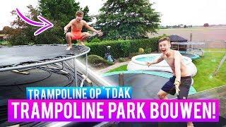 TRAMPOLINE PARK BOUWEN IN EIGEN TUIN MET 7 TRAMPOLINES!