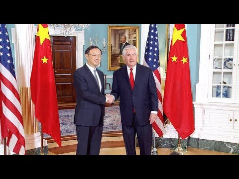 Chinese State Councilor Meets with US  State Secretary