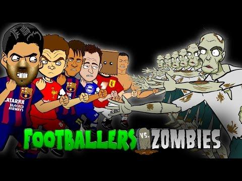 Footballers vs Zombies! feat. Ronaldo, Suarez and Neymar!