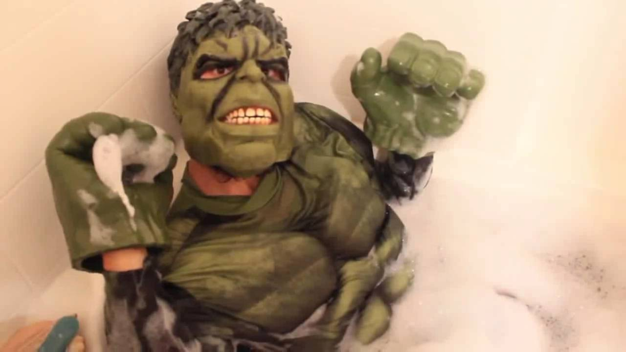 Hulk & Spiderman Bath Time in Real Life | Superhero Fun! New - YouTube