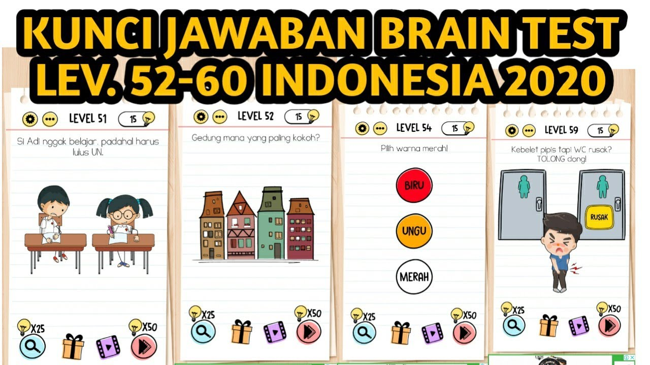 Kunci jawaban brain test level 51 52 53 54 55 56 57 58 59 ...