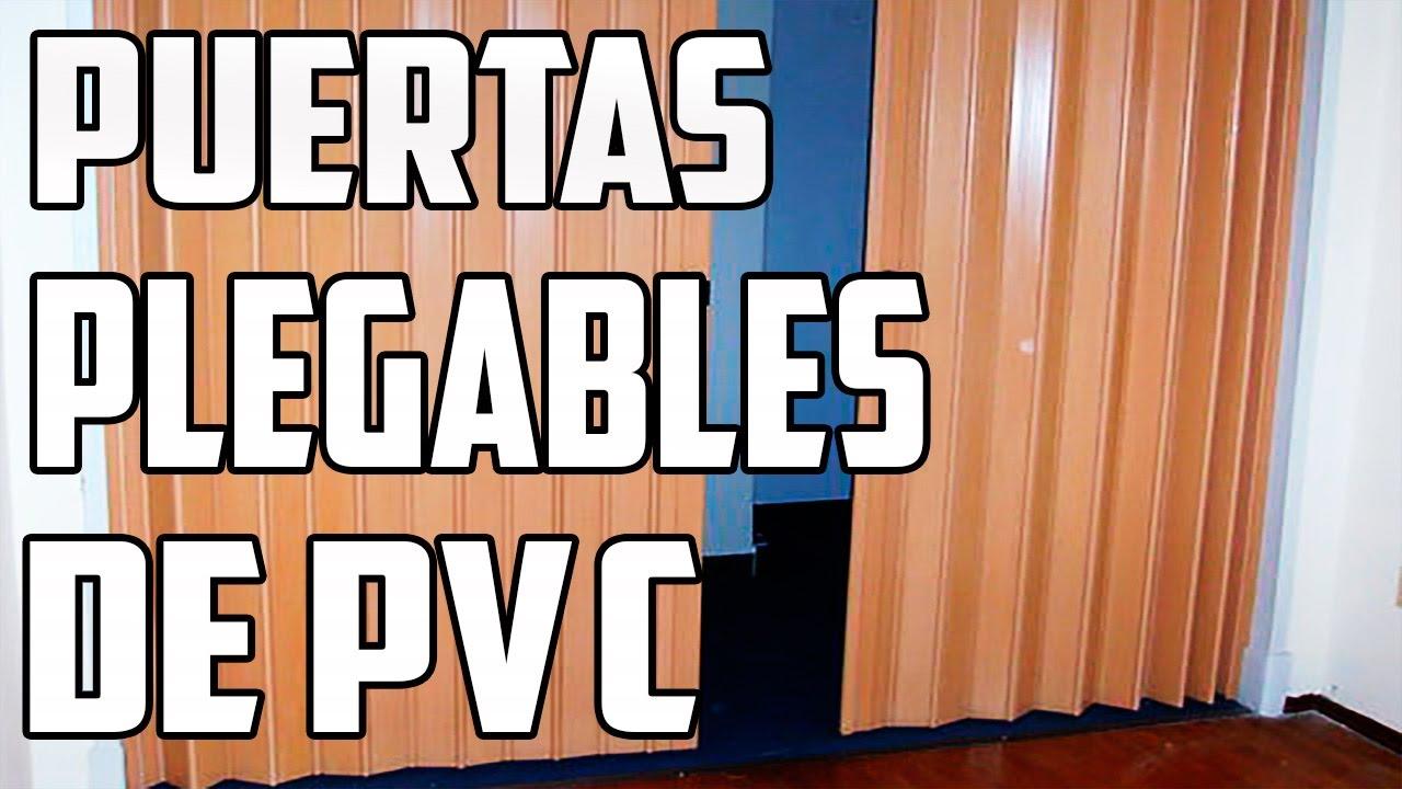 Puertas plegables de pvc lima per youtube for Puertas de fuelle a medida