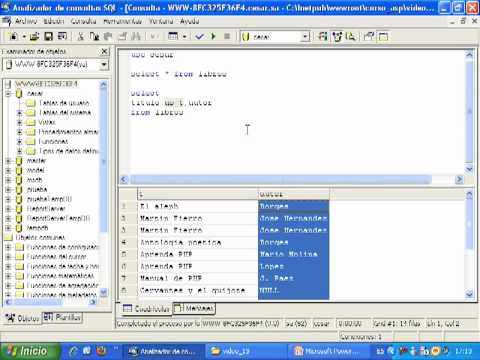 Videotutorial 13 ASP y SQL Server