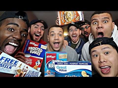 CEREAL TASTE TEST: BRAND NAME VS. NON BRAND NAME EXPERIMENT!!