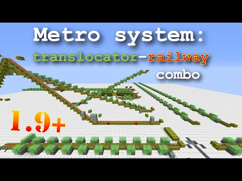 Minecraft translocator - railway combo. Flexible and fast transport system. 1.9 and 1.10 only