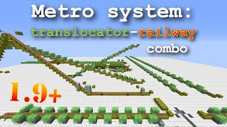 patched in 1 11 minecraft translocator railway combo flexible and fast transport system