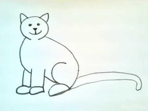 Malen für Kinder : Katze - YouTube