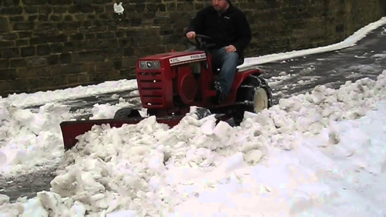 wheel horse snow plow