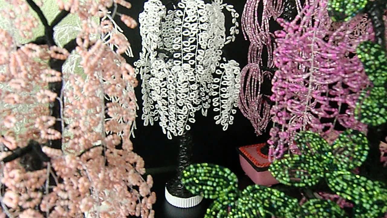 Perlen Baum.Wohn Dekoration.Kreativ Web Perlen Floristik   YouTube