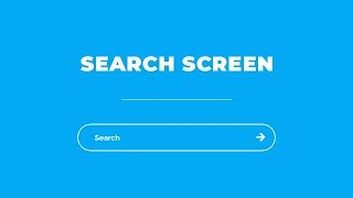 Awesome Search Screen Using HTML CSS & JQuery