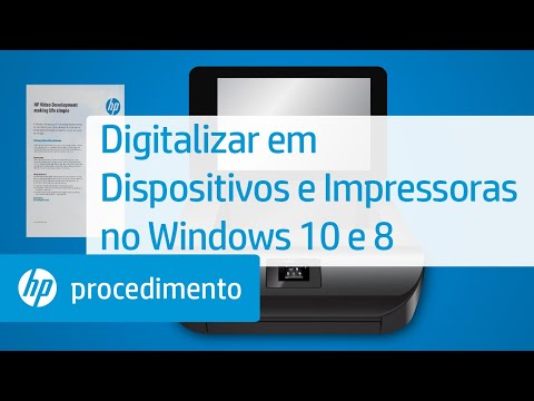 Digitalizar em Dispositivos e Impressoras no Windows 10 e 8